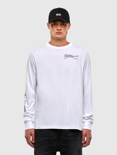 Diesel - T-JUST-LS-N62, Weiß - T-Shirts - Image 1