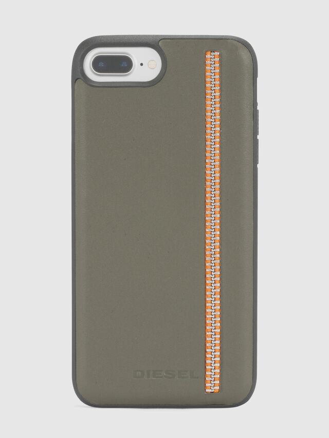 ZIP OLIVE LEATHER IPHONE 8 PLUS/7 PLUS/6s PLUS/6 PLUS CASE, Olivgrün