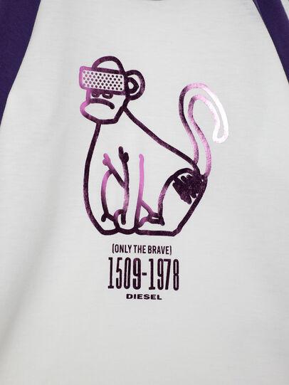 Diesel - TBALYB-FL-R, Weiss/Violett - T-Shirts und Tops - Image 3