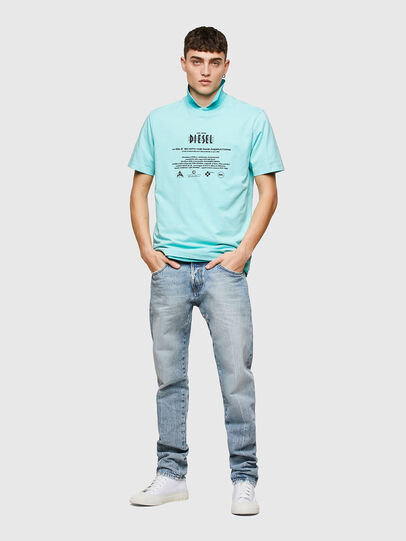 Diesel - T-JUST-E9, Hellblau - T-Shirts - Image 4