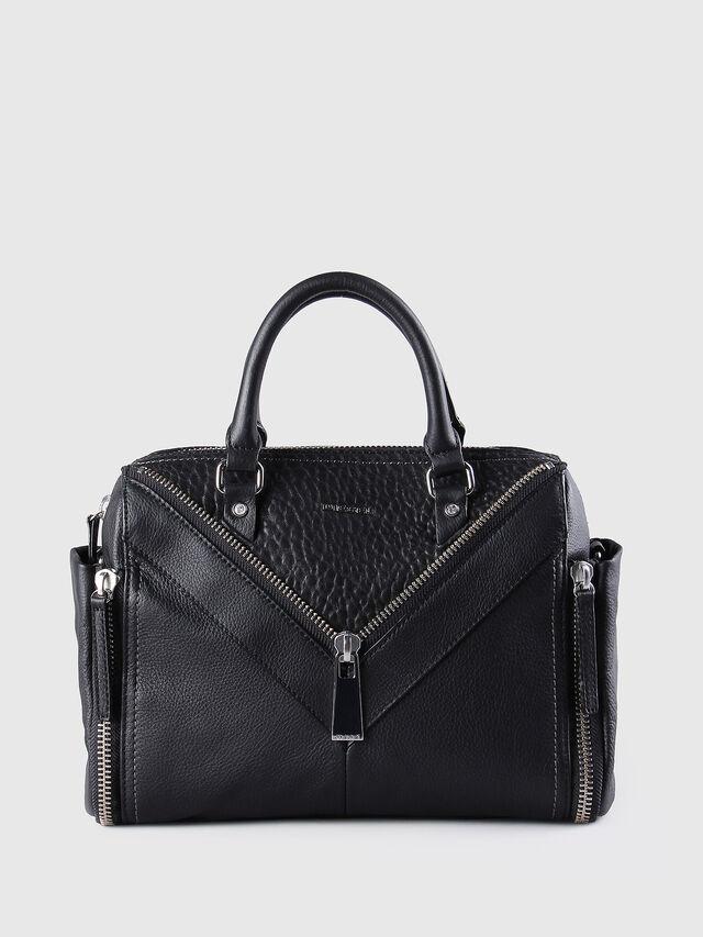 Diesel - LE-TRASY, Lederschwarz - Satchel Bags und Handtaschen - Image 1