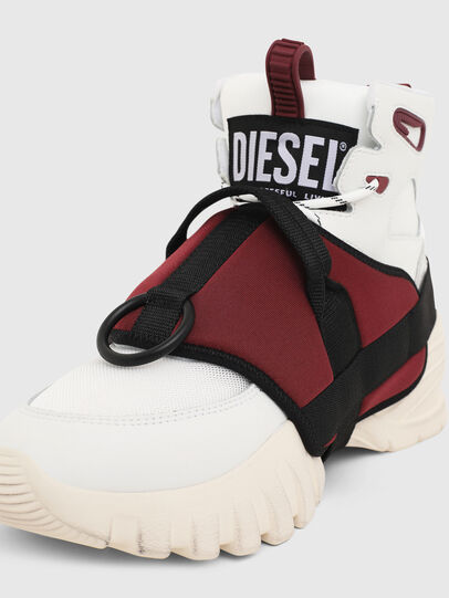 Diesel - S-SHARQUEZ MID, Weiß/Rot - Sneakers - Image 6