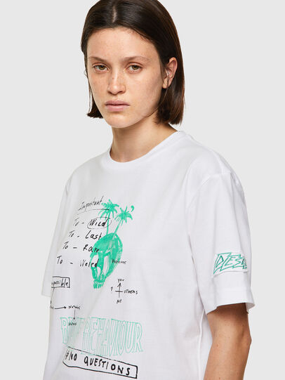 Diesel - T-JUST-B61, Weiß - T-Shirts - Image 6