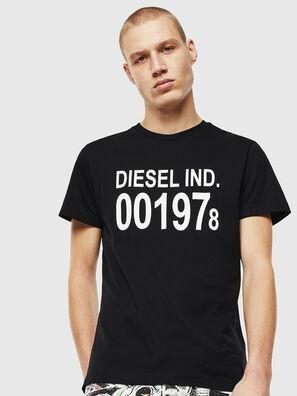 T-DIEGO-001978, Schwarz/Weiß - T-Shirts