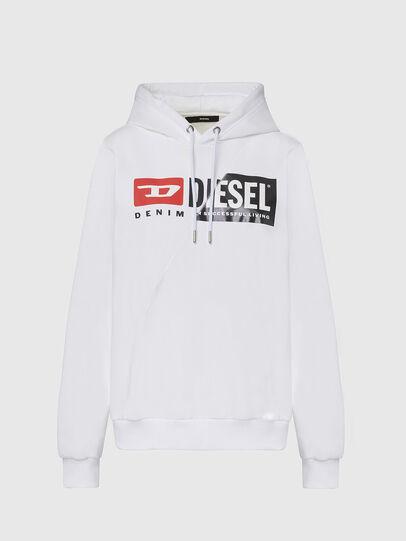Diesel - F-ANG-HOOD-CUTY, Weiß - Sweatshirts - Image 1