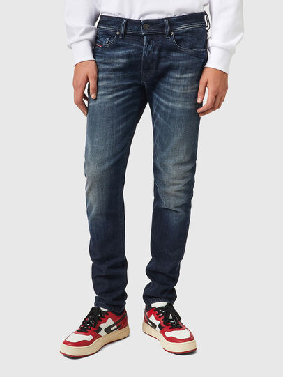 Diesel - Sleenker 069XD, Dunkelblau - Jeans - Image 1