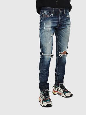 D-Strukt 084AD, Mittelblau - Jeans