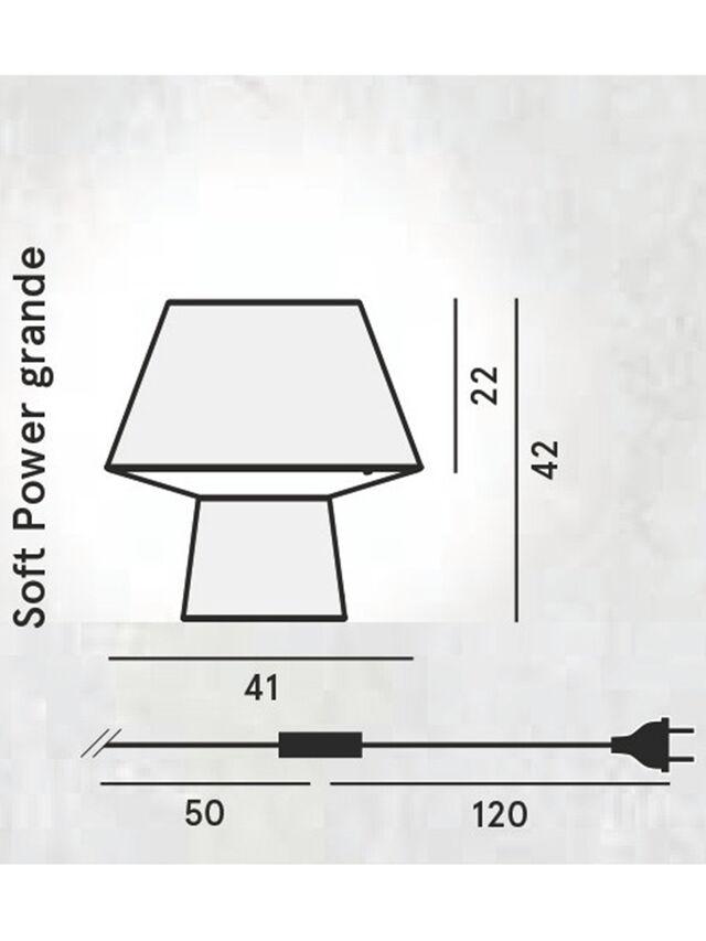 Diesel - SOFT POWER GRANDE, Schwarz - Tischlampen - Image 2