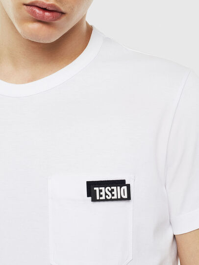 Diesel - T-WORKY-SLITS, Weiß - T-Shirts - Image 3