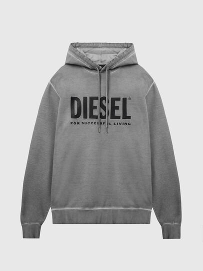 Diesel - S-GIR-HOOD-DIVISION-, Grau - Sweatshirts - Image 1
