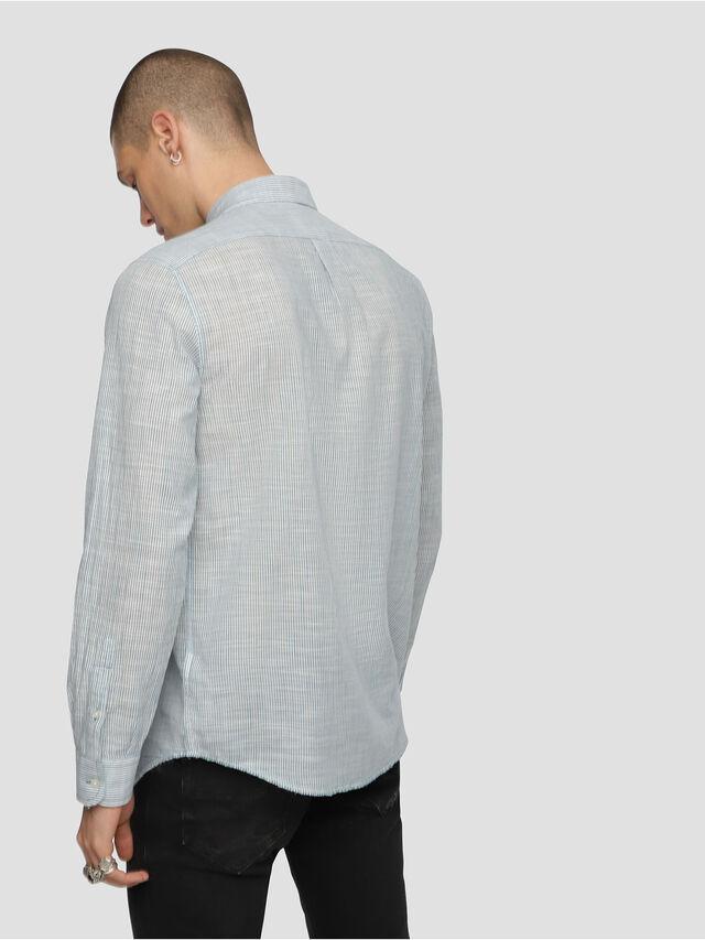 Diesel - S-STRYPED-NEW, Blau/Weiß - Hemden - Image 2