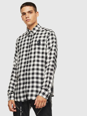 S-VEN-CHECK, Schwarz/Weiß - Hemden