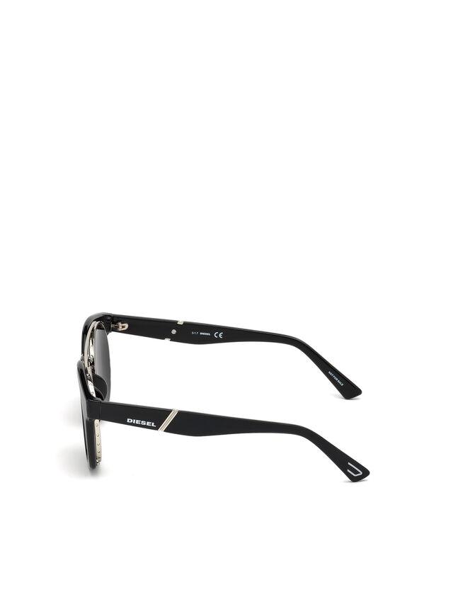 Diesel - DL0251, Brillantschwarz - Sonnenbrille - Image 3