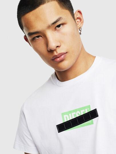 Diesel - T-DIEGO-S7, Weiß/Grün - T-Shirts - Image 3