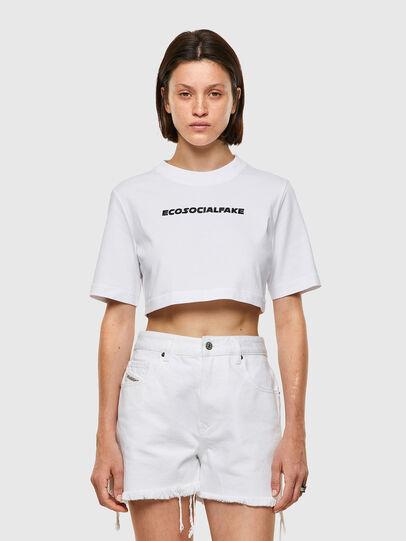 Diesel - T-RECROP, Weiß - T-Shirts - Image 1