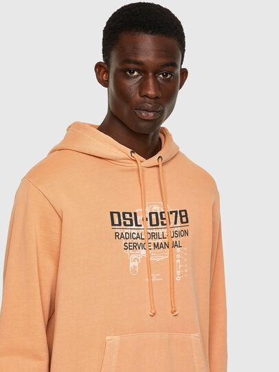 Diesel - S-GIRK-HOOD-B3, Orange - Sweatshirts - Image 3