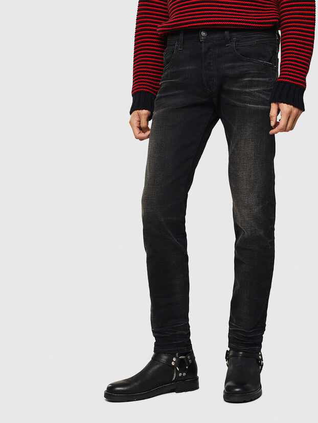 D-Bazer 0098B, Schwarz/Dunkelgrau - Jeans