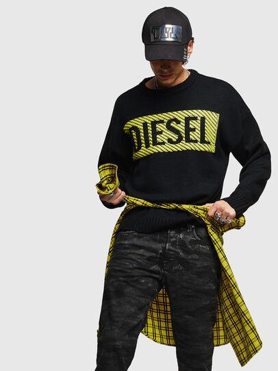 Diesel - K-LOGOX-C, Schwarz - Strickwaren - Image 4