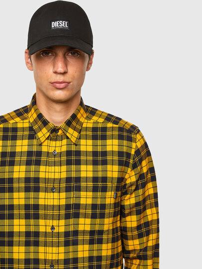 Diesel - S-MOI-CHK, Schwarz/Gelb - Hemden - Image 4