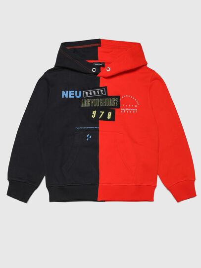 Diesel - SUMMERSPLITN1 OVER, Orange/Schwarz - Sweatshirts - Image 1