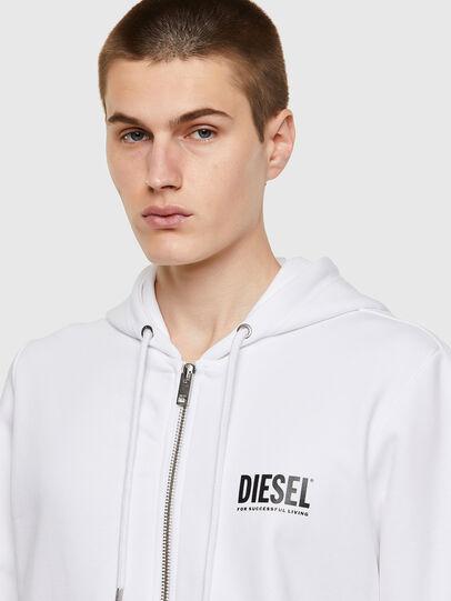 Diesel - S-GIRK-HOOD-ZIP-ECOL, Weiß - Sweatshirts - Image 3