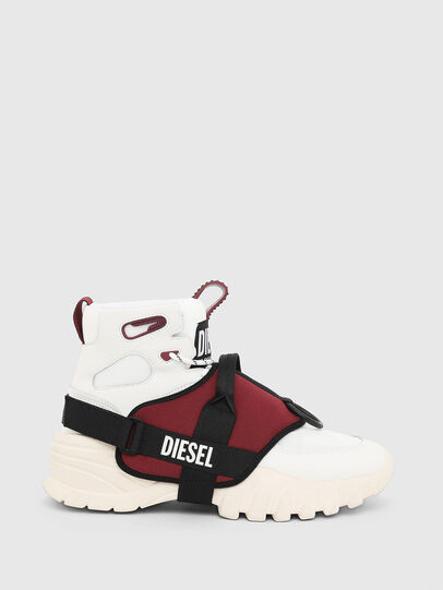 Diesel - S-SHARQUEZ MID, Weiß/Rot - Sneakers - Image 1