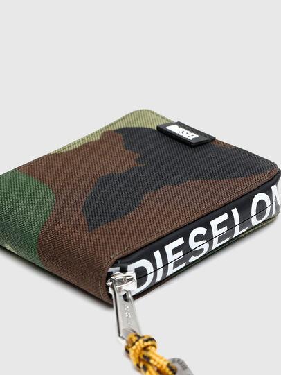 Diesel - HIRESH XS ZIPPI, Bunt/Braun - Portemonnaies Zip-Around - Image 4
