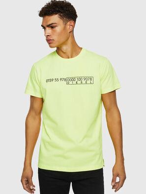 T-DIEGO-SLITS-J6, Neongelb - T-Shirts