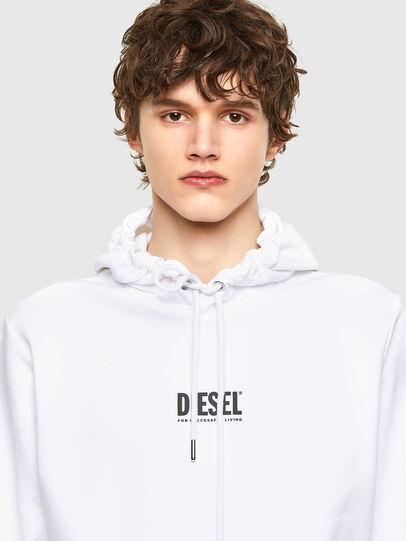 Diesel - S-GIRK-HOOD-SMALLOGO, Weiß - Sweatshirts - Image 3