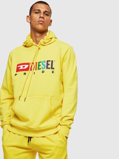 Diesel - S-GIR-HOOD, Gelb - Sweatshirts - Image 1