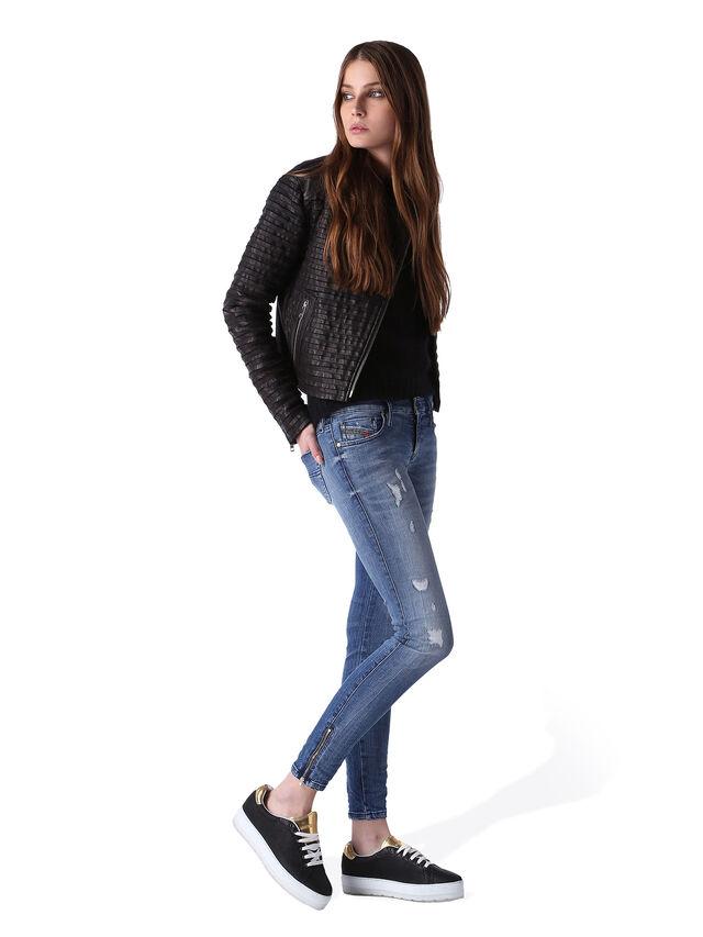Diesel - Skinzee Low Zip 0847U, Mittelblau - Jeans - Image 5