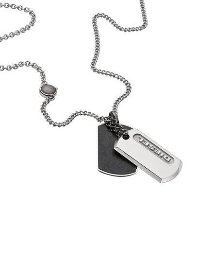 Diesel - NECKLACE DX0954, Silber - Halsketten - Image 2