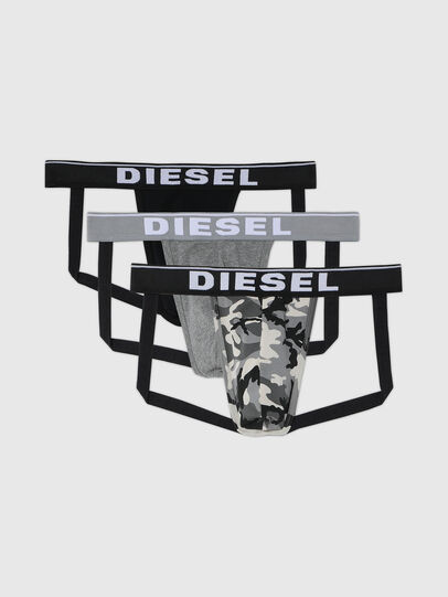 Diesel - UMBR-JOCKYTHREEPACK, Grau/Schwarz - Jockstraps - Image 1