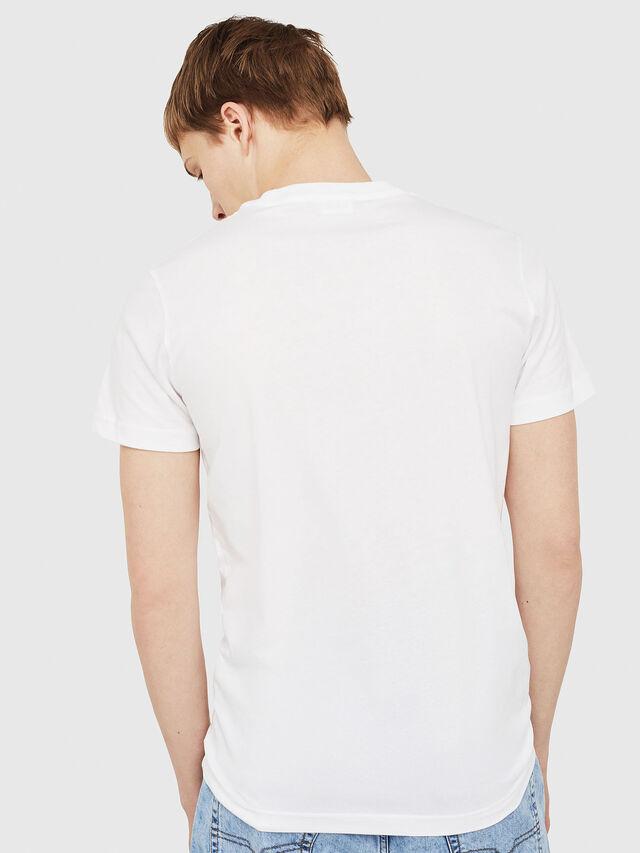 Diesel - T-DIEGO-C2, Weiß/Rot/Blau - T-Shirts - Image 2