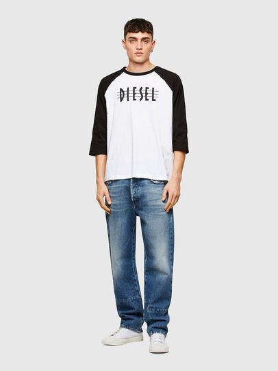 Diesel - T-BEISBOL, Weiß - T-Shirts - Image 4
