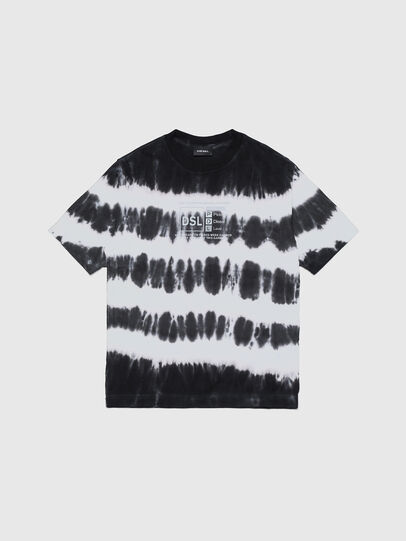 Diesel - TJUSTA38 OVER, Schwarz/Weiss - T-Shirts und Tops - Image 1