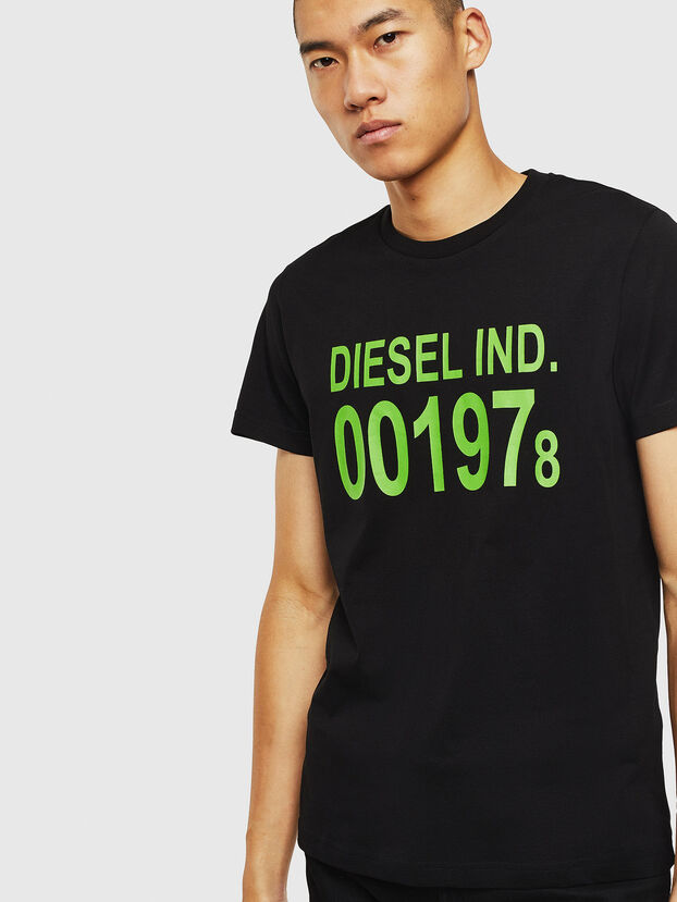 T-DIEGO-001978, Schwarz - T-Shirts