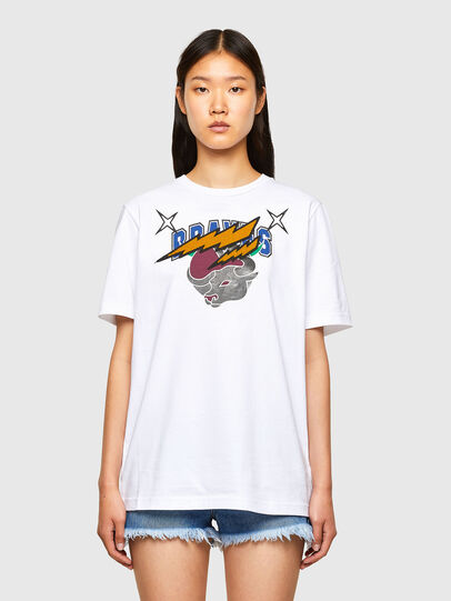 Diesel - CL-T-JUST-O1, Weiß - T-Shirts - Image 2