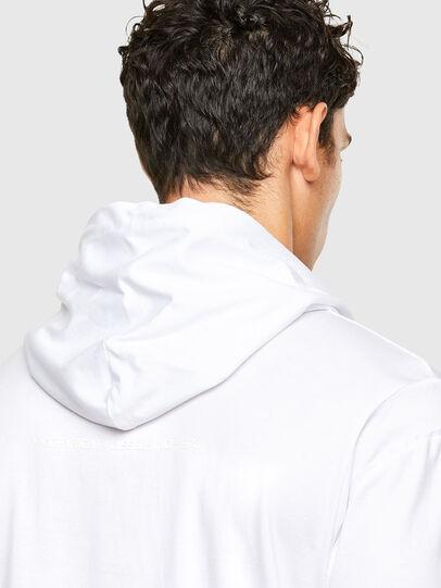 Diesel - T-FONTAL-LS-HOOD, Weiß - T-Shirts - Image 4