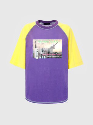 T-SPO, Violett/Gelb - T-Shirts