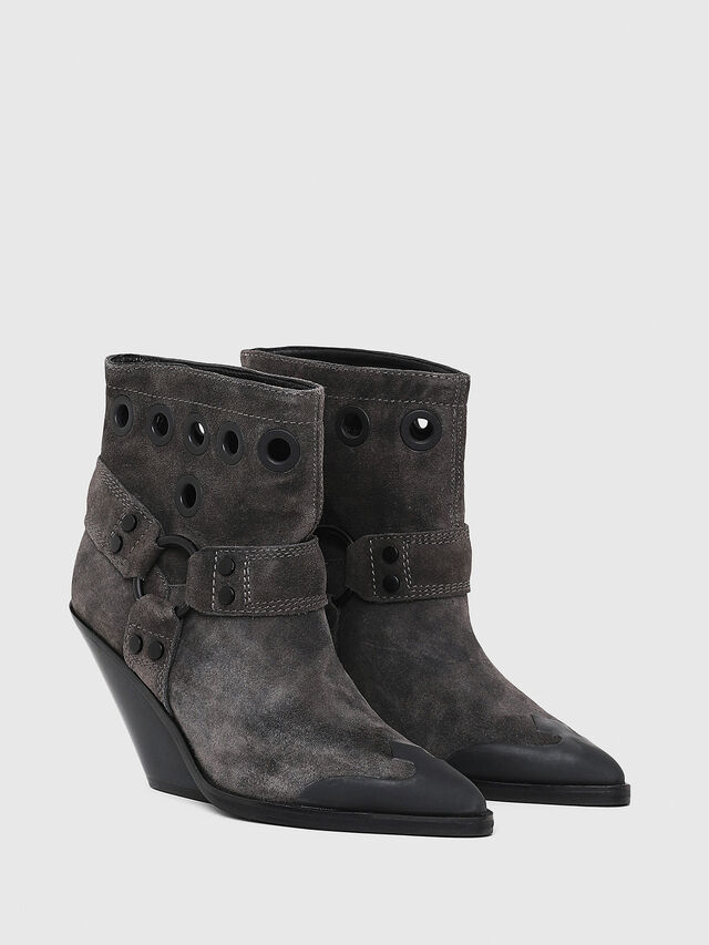 650c97a96ad7fc D-WEST MBE Damen  Ankle Boots im Western-Style