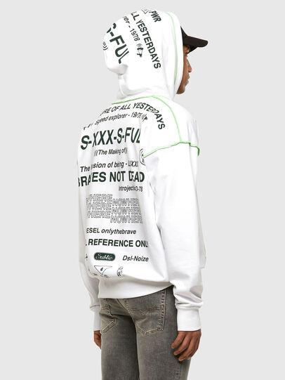 Diesel - S-ALBYSEAM, Weiß - Sweatshirts - Image 5