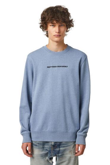 Green Label Sweatshirt mit Slogan