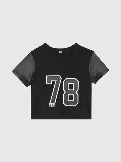 Diesel - UFTEE-ROUNDIE-SAT, Schwarz - T-Shirts - Image 1