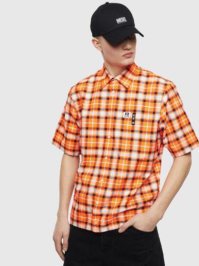 Diesel - S-ATWOOD-A, Orange - Hemden - Image 1
