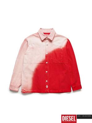GR02-B301, Rot/Weiß - Denimhemden