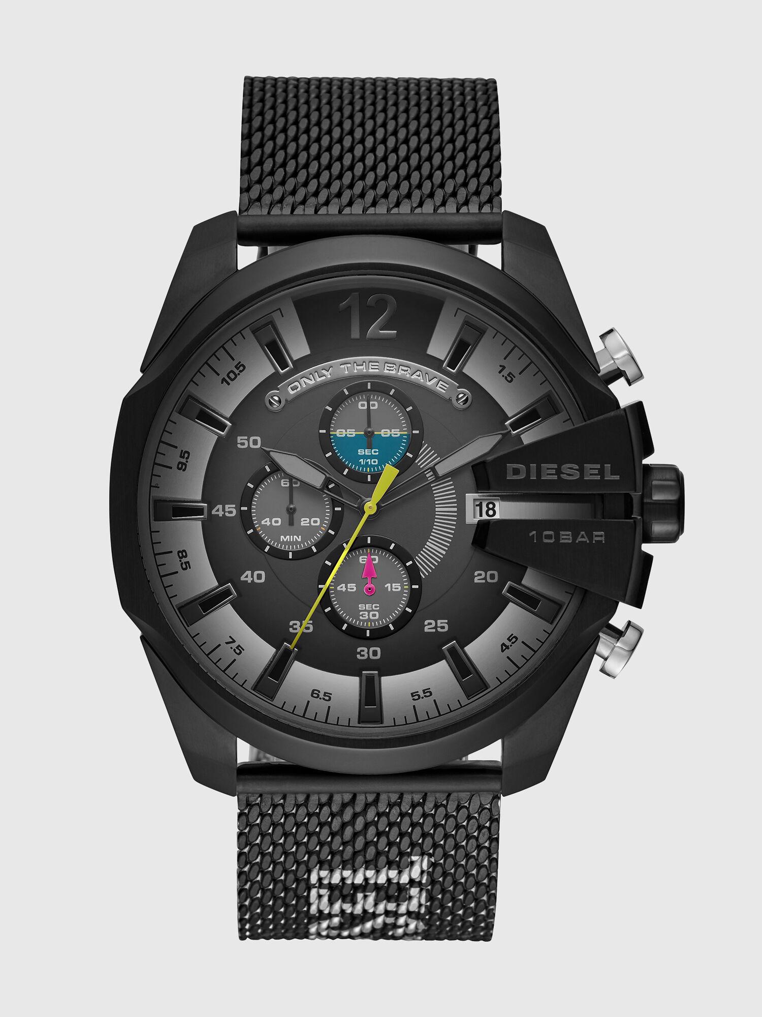 Zweifarbige Mega Chief Armbanduhr aus Edelstahl