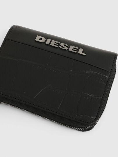 Diesel - L-12 ZIP, Schwarz - Portemonnaies Zip-Around - Image 4