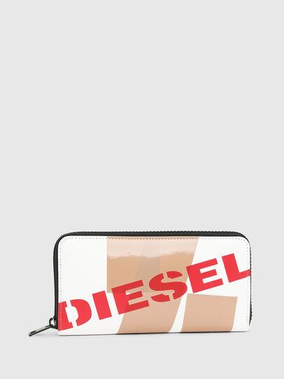 Diesel - 24 ZIP, Weiß/Rot - Portemonnaies Zip-Around - Image 1