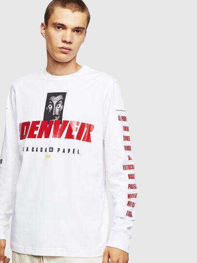 Diesel - LCP-T-JUST-LS-DENVER, Weiß - T-Shirts - Image 1